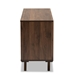 Baxton Studio Meike Mid-Century Modern Two-Tone Walnut Brown and White Finished Wood 6-Drawer Dresser - LV14COD14232WI-Columbia/White-6DW-Dresser