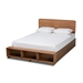 Baxton Studio Vita Modern Transitional Ash Walnut Brown Finished Wood 4-Drawer Queen Size Platform Storage Bed