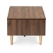 Baxton Studio Landen Mid-Century Modern Walnut Brown and Gold Finished Wood Coffee Table - LV10CFT1014WI-Columbia/Gold-CT