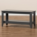 Baxton Studio Elada Modern and Contemporary Grey Finished Wood Coffee Table - CT8000-Grey-CT