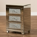 Baxton Studio Ralston Contemporary Glam and Luxe Mirrored 3-Drawer Nightstand - RXF-2439-NS