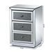 Baxton Studio Talan Contemporary Glam and Luxe Mirrored 3-Drawer Nightstand - RXF-2445-NS