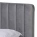 Baxton Studio Nami Modern Contemporary Glam and Luxe Light Grey Velvet Fabric Upholstered and Gold Finished Queen Size Platform Bed - CF0374-Light Grey-Queen