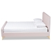 Baxton Studio Nami Modern Contemporary Glam and Luxe Light Pink Velvet Fabric Upholstered and Gold Finished Queen Size Platform Bed - CF0374-Light Pink-Queen