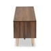 Baxton Studio Landen Mid-Century Modern Walnut Brown and Gold Finished Wood TV Stand - LV10TV1013WI-Columbia/Gold-TV