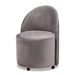Baxton Studio Bethel Glam and Luxe Grey Velvet Fabric Upholstered Rolling Accent Chair