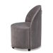 Baxton Studio Bethel Glam and Luxe Grey Velvet Fabric Upholstered Rolling Accent Chair - WS-52226-Grey Velvet-CC