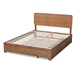 Baxton Studio Eleni Modern and Contemporary Transitional Ash Walnut Brown Finished Wood Queen Size 3-Drawer Platform Storage Bed - Eleni-Ash Walnut-Queen