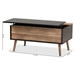 Baxton Studio Jensen Modern and Contemporary Two-Tone Black and Rustic Brown Finished Wood Lift Top Coffee Table with Storage Compartment - SR1801577-Black/Oak-CT