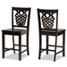 Baxton Studio Gervais Modern and Contemporary Transitional Dark Brown Finished Wood 2-Piece Counter Stool Set