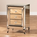 Baxton Studio Pauline Contemporary Glam and Luxe Mirrored 3-Drawer Nightstand - RXF-2441-NS