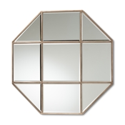 Baxton Studio Enora Modern and Contemporary Antique Bronze Finished Metal Geometric Accent Wall Mirror