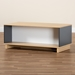 Baxton Studio Marigold Modern and Contemporary Multicolor Oak Brown and Grey Finished Wood Storage Coffee Table - CT8002-Oak/Grey/White-CT