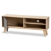 Baxton Studio Mallory Modern and Contemporary Two-Tone Oak Brown and Grey Finished Wood TV Stand - TV8009-Oak/Grey-TV