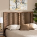 Baxton Studio Harena Modern and Contemporary Transitional Ash Walnut Finished Wood King Size Headboard - MG9751-Ash Walnut-HB-King