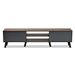 Baxton Studio Clapton Modern and Contemporary Multi-Tone Grey and Walnut Brown Finished Wood TV Stand - TV8010-Walnut/Grey-TV