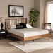 Baxton Studio Toru Mid-Century Modern Ash Walnut Finished Wood Queen Size Platform Bed - Toru-Ash Walnut-Queen