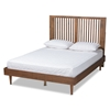 Baxton Studio Harena Modern and Contemporary Transitional Ash Walnut Finished Wood Queen Size Headboard
