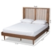 Baxton Studio Kioshi Mid-Century Modern Transitional Ash Walnut Finished Wood Queen Size Platform Bed - Kioshi-Ash Walnut-Queen