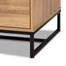 Baxton Studio Franklin Modern and Contemporary Oak Brown Finished Wood and Black Finished Metal 2-Drawer Coffee Table - CT8007-Oak-CT