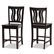 Baxton Studio Nicolette Modern and Contemporary Two-Tone Dark Brown and Walnut Brown Finished Wood 5-Piece Dining Set