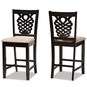 Baxton Studio Nicolette Modern and Contemporary Dark Brown Finished Wood 5-Piece Dining Set