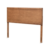 Baxton Studio Alan Modern and Contemporary Transitional Ash Walnut Finished Wood Queen Size Headboard
