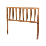 Baxton Studio Duncan Modern and Contemporary Ash Walnut Finished Wood Queen Size Headboard