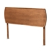Baxton Studio Laurien Mid-Century Modern Ash Walnut Finished Wood Queen Size Headboard