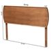 Baxton Studio Laurien Mid-Century Modern Ash Walnut Finished Wood Full Size Headboard - MG9754-Ash Walnut-HB-Full