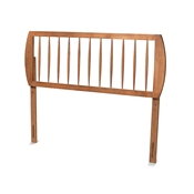 Baxton Studio Norman Modern and Contemporary Transitional Ash Walnut Finished Wood Queen Size Headboard