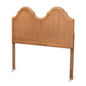 Baxton Studio Tobin Vintage Classic and Traditional Ash Walnut Finished Wood Queen Size Arched Headboard