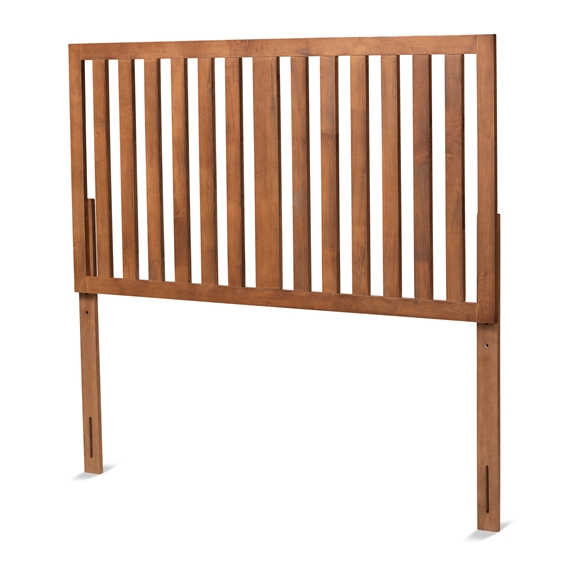 Baxton Studio Oren Modern and Transitional Ash Walnut Finished Wood Queen Size Headboard