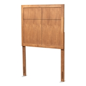 Baxton Studio Monroe Modern Transitional and Rustic Ash Walnut Finished Wood Twin Size Headboard