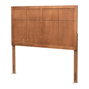 Baxton Studio Monroe Modern Transitional and Rustic Ash Walnut Finished Wood Queen Size Headboard