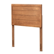 Baxton Studio Seren Mid-Century Modern Walnut Brown Finished Wood Twin Size Headboard