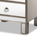 Baxton Studio Ewan Contemporary Glam and Luxe Mirrored 3-Drawer Nightstand - RXF-8645-NS