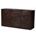Baxton Studio Titus Modern and Contemporary Dark Brown Finished Wood 3-Door Dining Room Sideboard Buffet