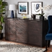 Baxton Studio Titus Modern and Contemporary Dark Brown Finished Wood 3-Door Dining Room Sideboard Buffet - Titus-Mocha-Sideboard