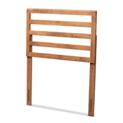 Baxton Studio Akemi Modern and Contemporary Ash Walnut Finished Wood Twin Size Headboard