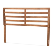 Baxton Studio Akemi Modern and Contemporary Ash Walnut Finished Wood Queen Size Headboard