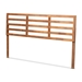 Baxton Studio Akemi Modern and Contemporary Ash Walnut Finished Wood King Size Headboard
