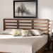 Baxton Studio Akemi Modern and Contemporary Ash Walnut Finished Wood King Size Headboard - MG9729-Ash Walnut-HB-King