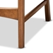 Baxton Studio Katya Mid-Century Modern Grey Fabric Upholstered and Walnut Brown Finished Wood 2-Piece Counter Stool Set - RH378P-Grey/Walnut Bent Seat-PC-2PK