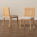 Baxton Studio Sofia Modern and Contemporary Natural Finished Wood and Rattan 2-Piece Dining Chair Set - Sofia-Natural-DC