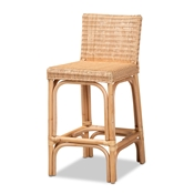 Baxton Studio Athena Modern and Contemporary Natural Finished Rattan Counter Stool