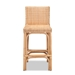 Baxton Studio Athena Modern and Contemporary Natural Finished Rattan Counter Stool - Athena-Natural-CS
