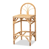 Baxton Studio Seville Modern and Contemporary Natural Finished Rattan Counter Stool