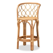 Baxton Studio Diana Modern and Contemporary Natural Finished Rattan Counter Stool