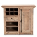 Baxton Studio Albert Modern and Contemporary Farmhouse Rustic Oak Brown Finished Wood 1-Door Dining Room Sideboard Buffet - BH-003-Yosemile Oak-Buffet